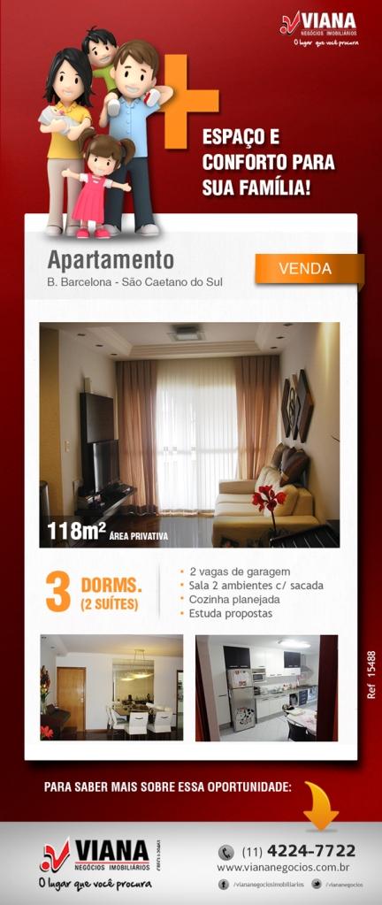 Apartamento em São Caetano - Imóveis em São Caetano - Viana Imobiliária - Viana Negócios Imobiliários - Apartamentos, Casas, Lançamentos em São Caetano do Sul, ABC e São Paulo