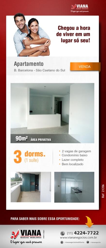 Apartamento 3 dormitórios em São Caetano do Sul - Viana Negócios Imobiliários - Apartamentos, Casas, Imóveis, Lançamentos em São Caetano do Sul, São Bernardo, Santo André, ABC e São Paulo