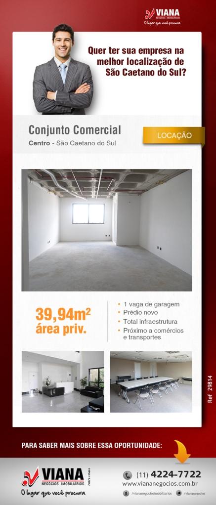Sala Comercial em São Caetano - Viana Negócios Imobiliários - Apartamentos, Casas, Imóveis, Lançamentos em São Caetano do Sul, São Bernardo, Santo André, ABC e São Paulo