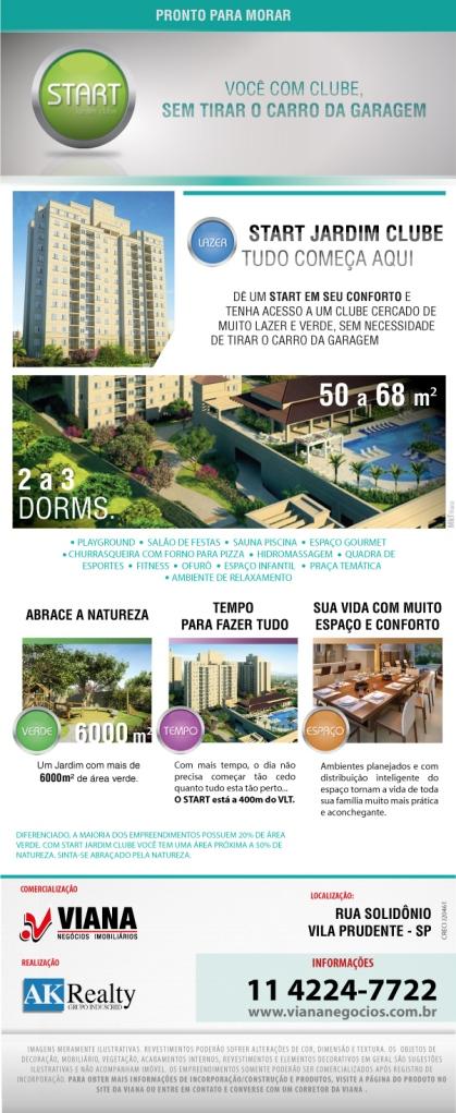 Start Vila Prudente - Viana Negócios Imobiliários - Apartamentos, Casas, Imóveis, Lançamentos em São Caetano do Sul, São Bernardo, Santo André, ABC e São Paulo