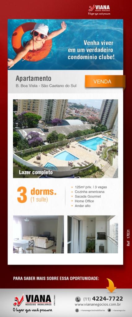 Apartamento em São Caetano do Sul - Viana Negócios Imobiliários - Apartamentos, Casas, Imóveis, Lançamentos em São Caetano do Sul, São Bernardo, Santo André, ABC e São Paulo