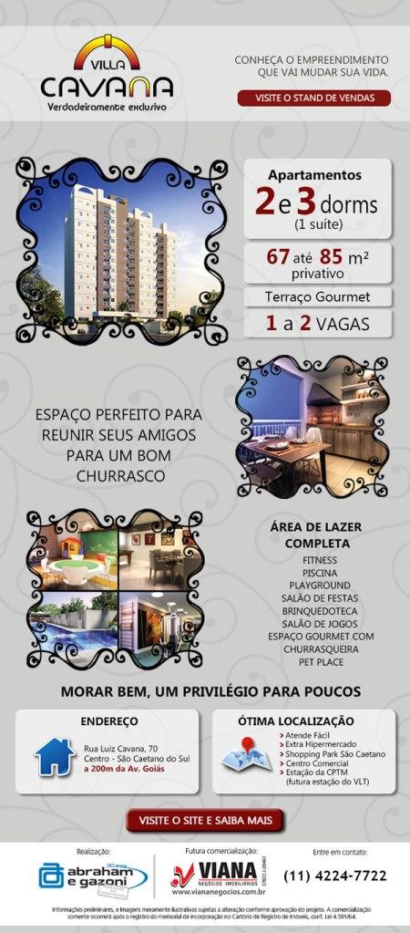 Villa Cavana - Apartamento em São Caetano - Viana Negócios Imobiliários - Apartamentos, Casas, Imóveis, Lançamentos em São Caetano do Sul, São Bernardo, Santo André, ABC e São Paulo