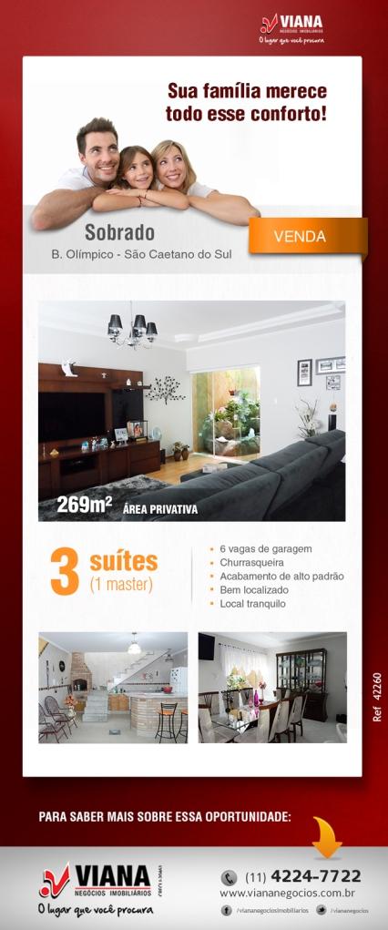 Ref-42260 - Viana Negócios Imobiliários - Apartamentos, Casas, Imóveis, Lançamentos em São Caetano do Sul, São Bernardo, Santo André, ABC e São Paulo