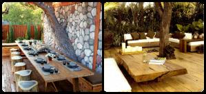 Foto 30 - Jardim com móveis rústicos