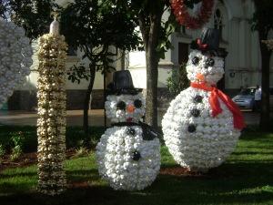 decoração natal com garrafa Pet